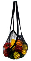 ECOBAGS | String Bag - long handle, black