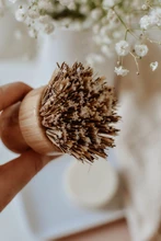 Load image into Gallery viewer, ZEFIRO | Bamboo + Palm Fibre Pot Scrubber