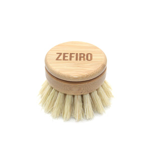 ZEFIRO | Bamboo + Sisal Dish Brush with Replacement Head