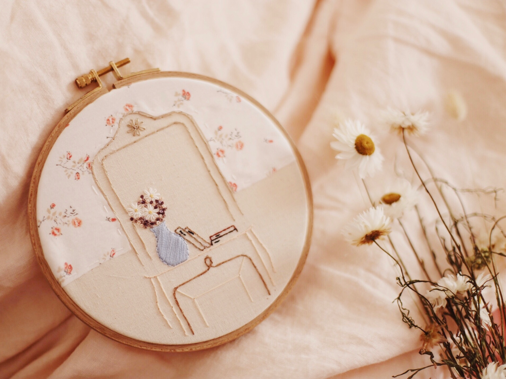 <transcy>&quot;Paris by Emile Zola&quot; embroidery</transcy>