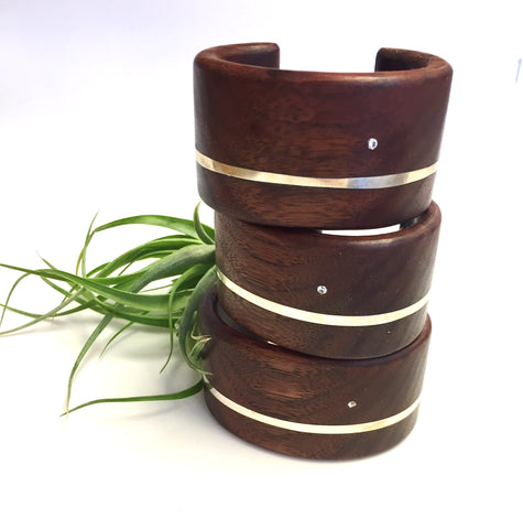 wide wooden cuffs