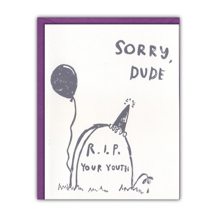 Sorry Dude Card