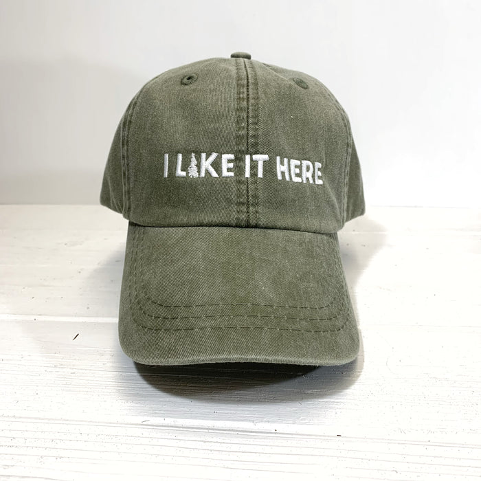 I Like It Here Dad Cap