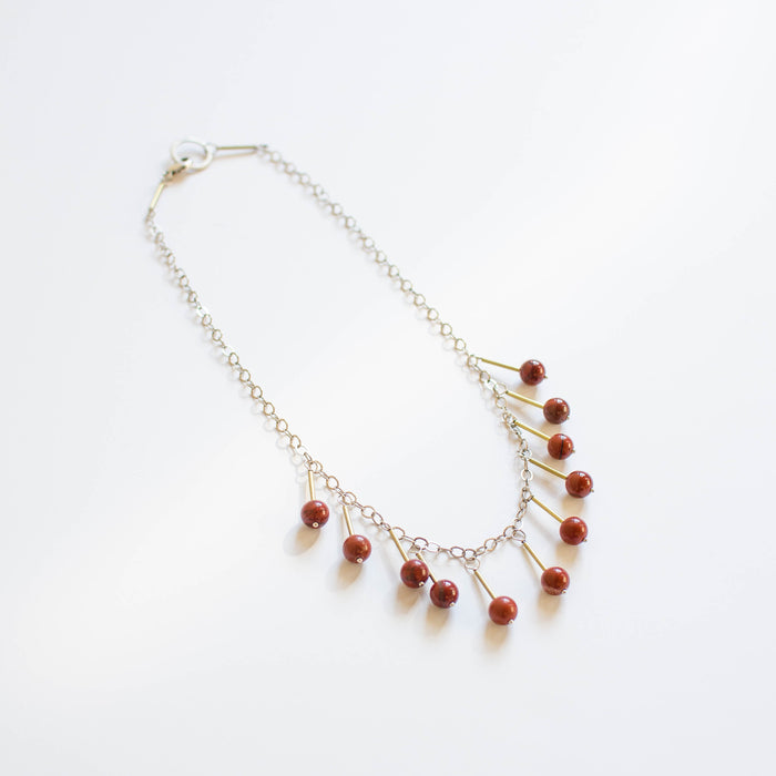 The Aiko Necklace | Red JAsper