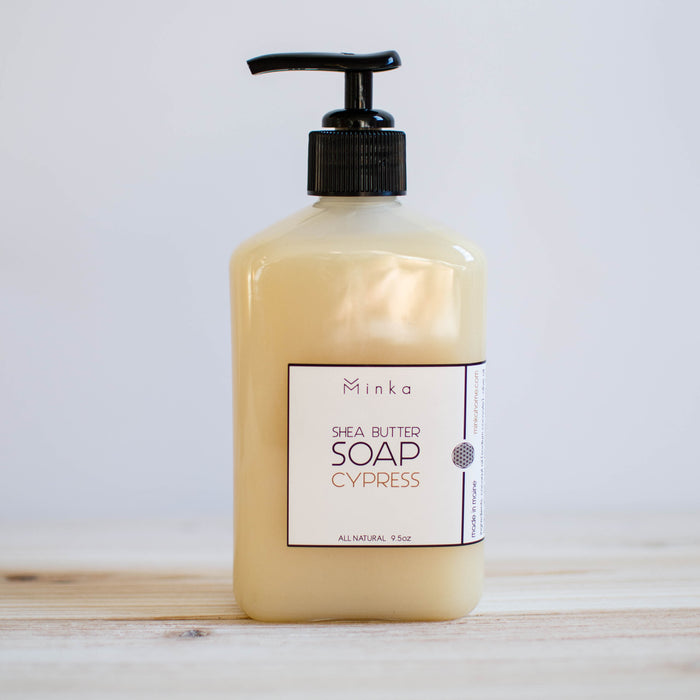 handmade all natural cypress hand soap