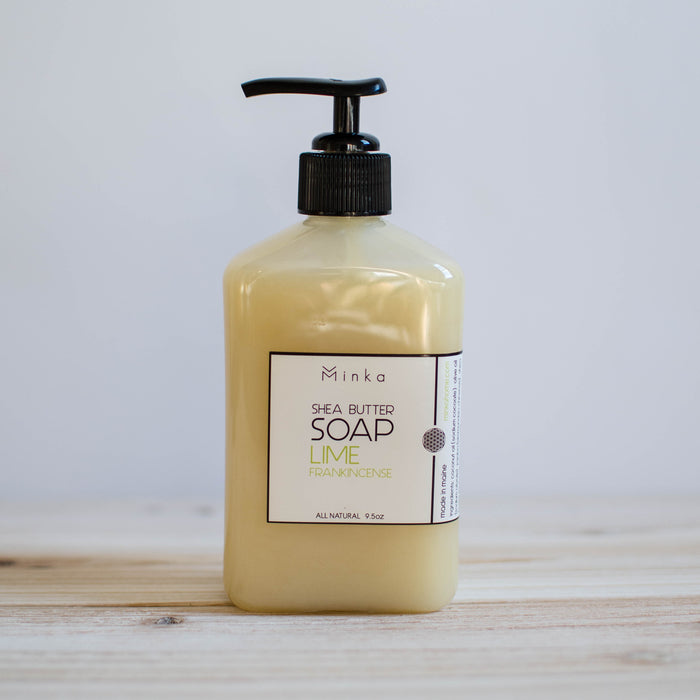 handmade all natural lime frankincense hand soap