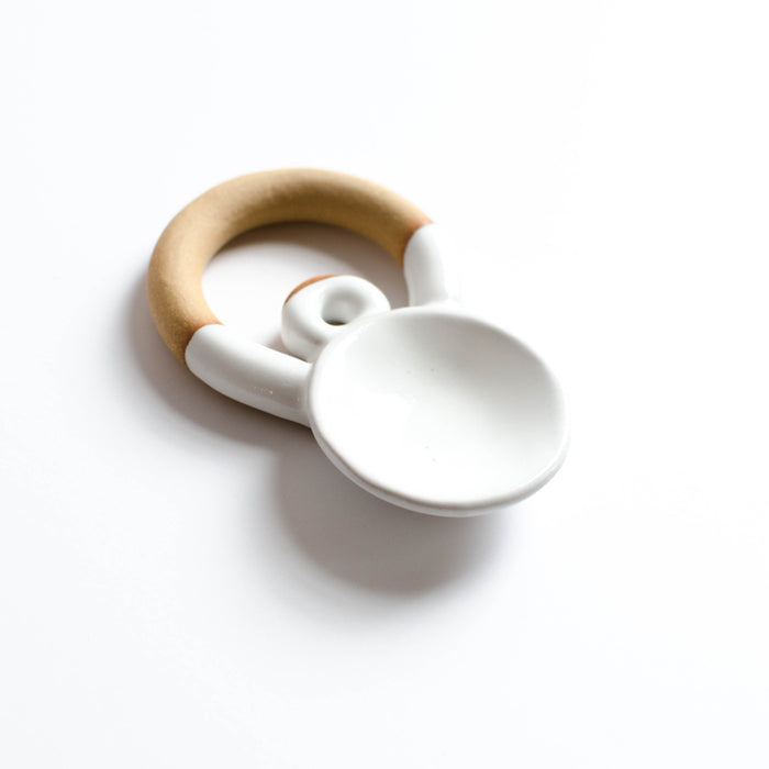 Small Circular Serving Spoon | White