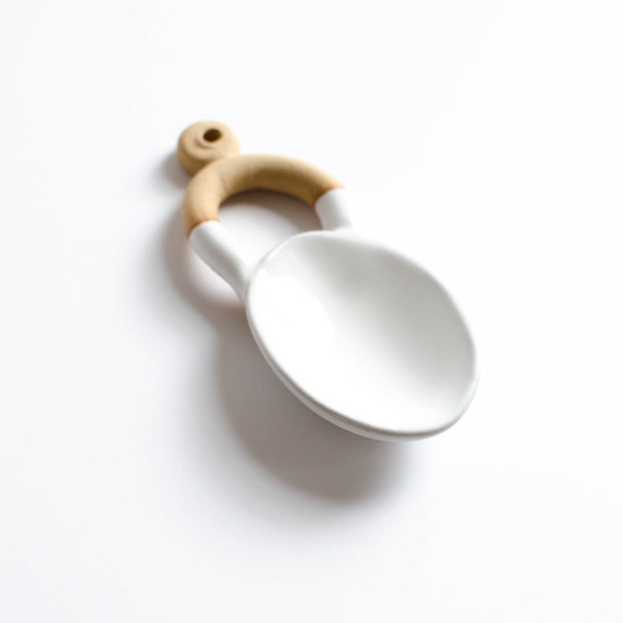 Small Oval Serving Spoon | White