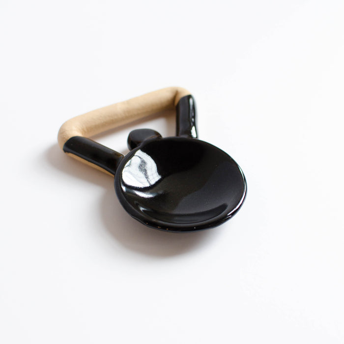 Small Knob Serving Spoon | Black