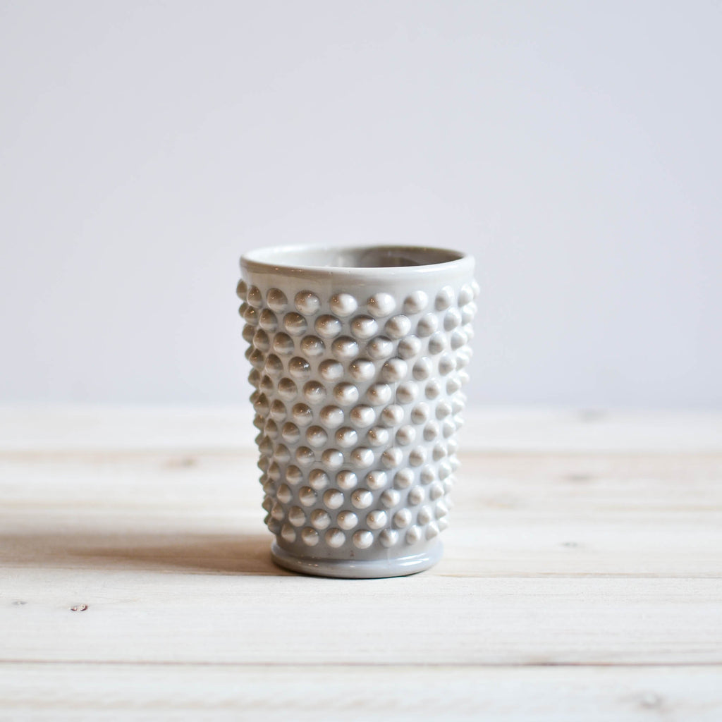 Grey Hobnail Tumblers | 8 oz and 16 oz