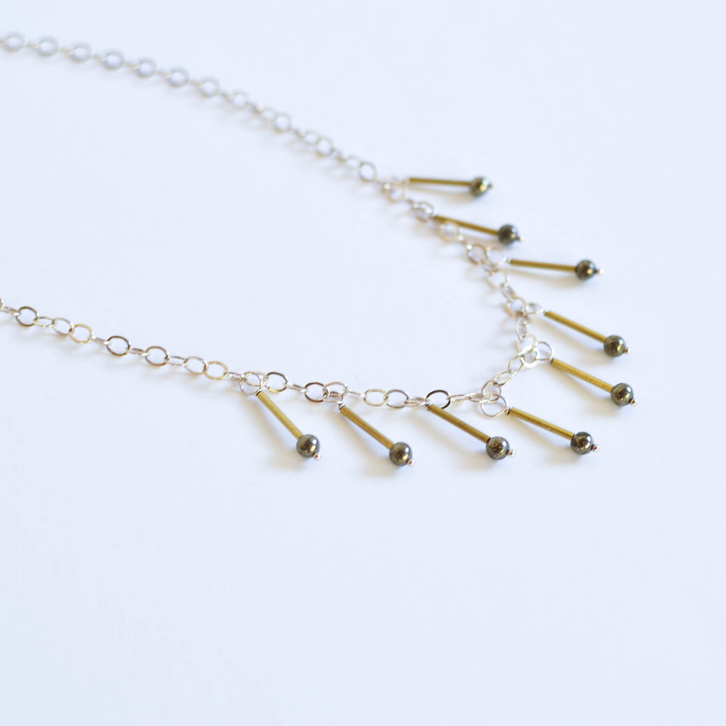 The Aiko Necklace | Pyrite