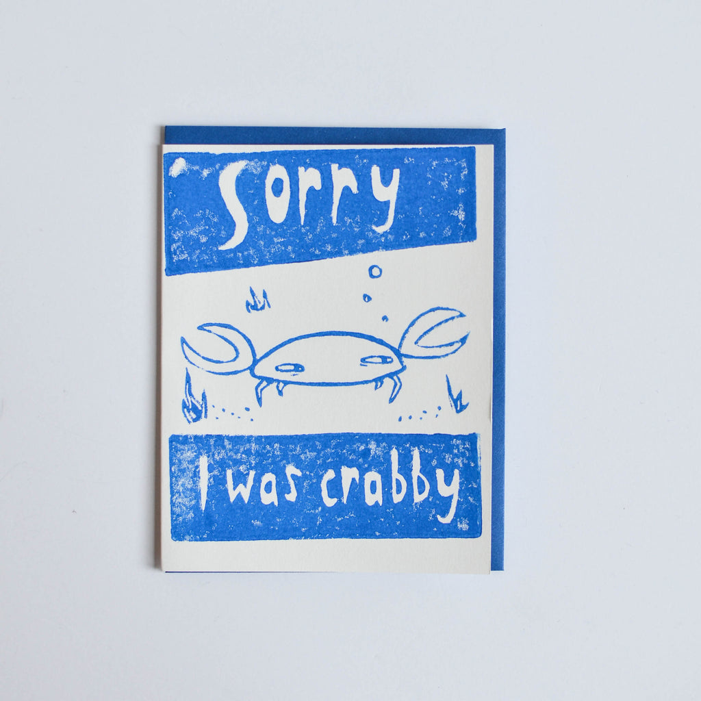 'Sorry I was Crabby' Card