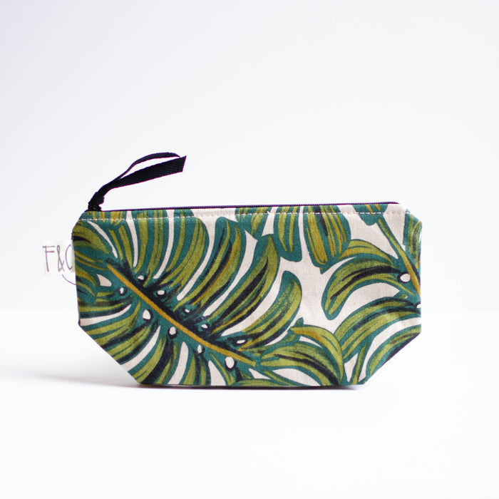 Monstera Leaf Cosmetic Bag