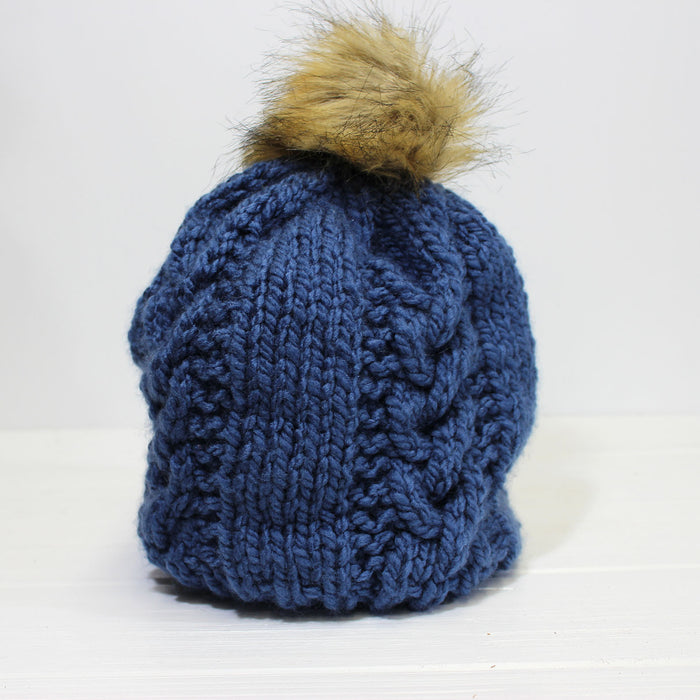 Knit Hat | Blue