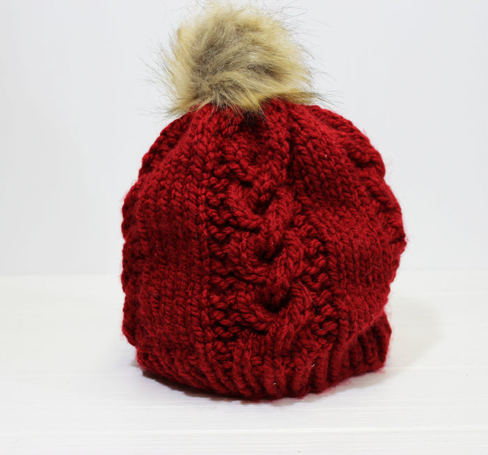 Knit Hat | Red