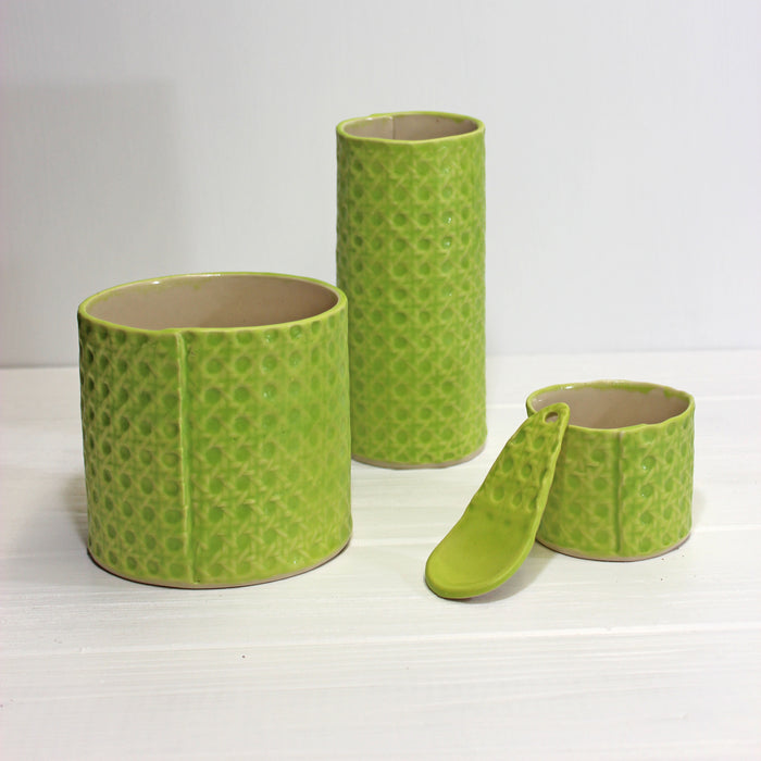 Copy of Copy of Minka Cane Vessels | Bright Green