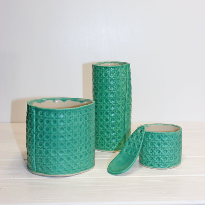Copy of Minka Cane Vessels | Teal
