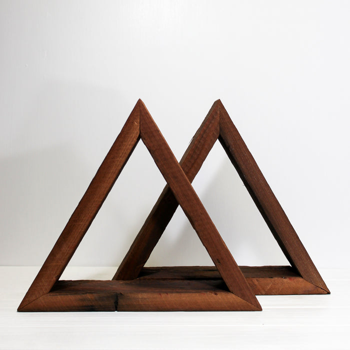 Reclaimed Wood Triangle Wall Shelf