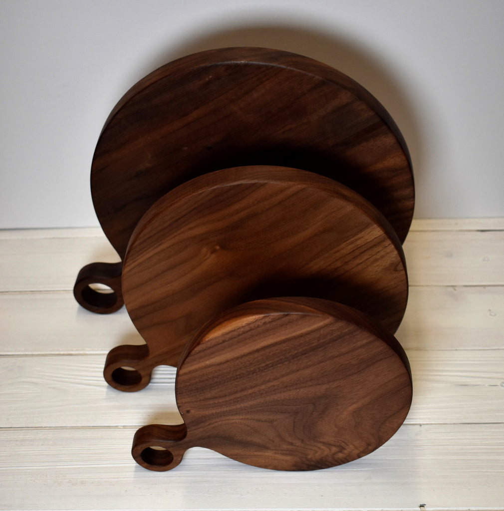 Circle Walnut Cutting + Serving Boards