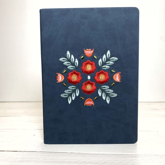 Layflat Notebook | Embroidered