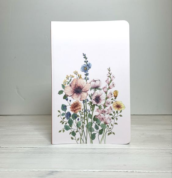 Flowers Layflat Notebook | Dot Grid