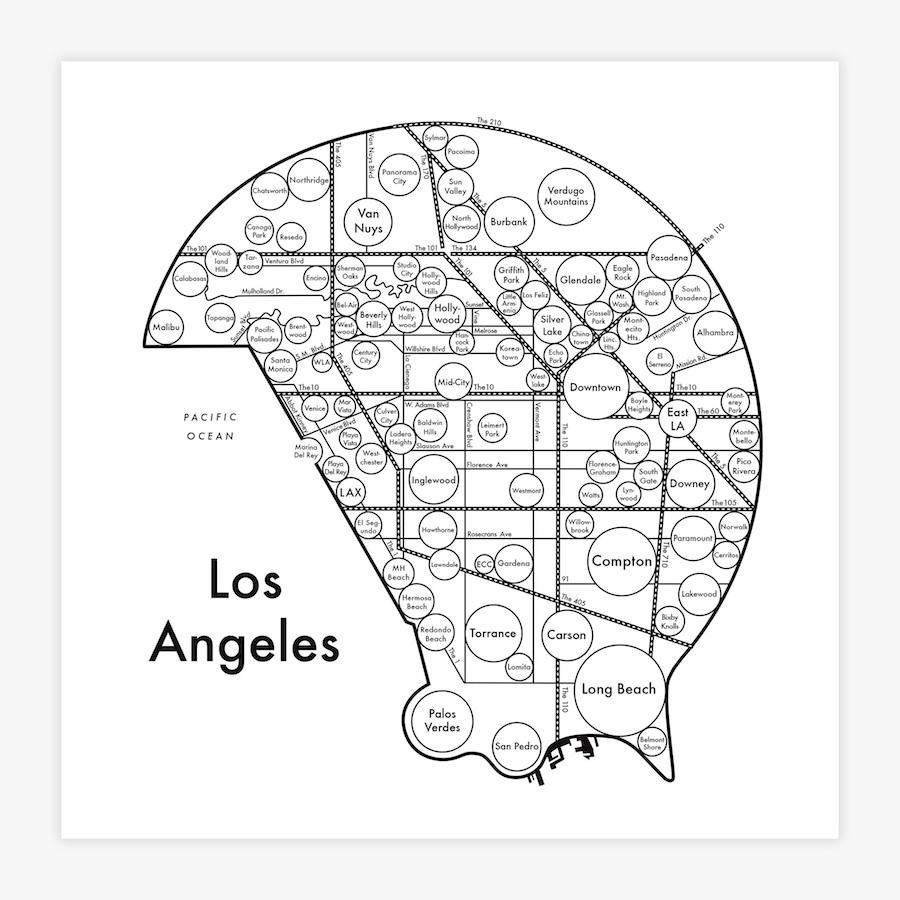 City & State Map Prints