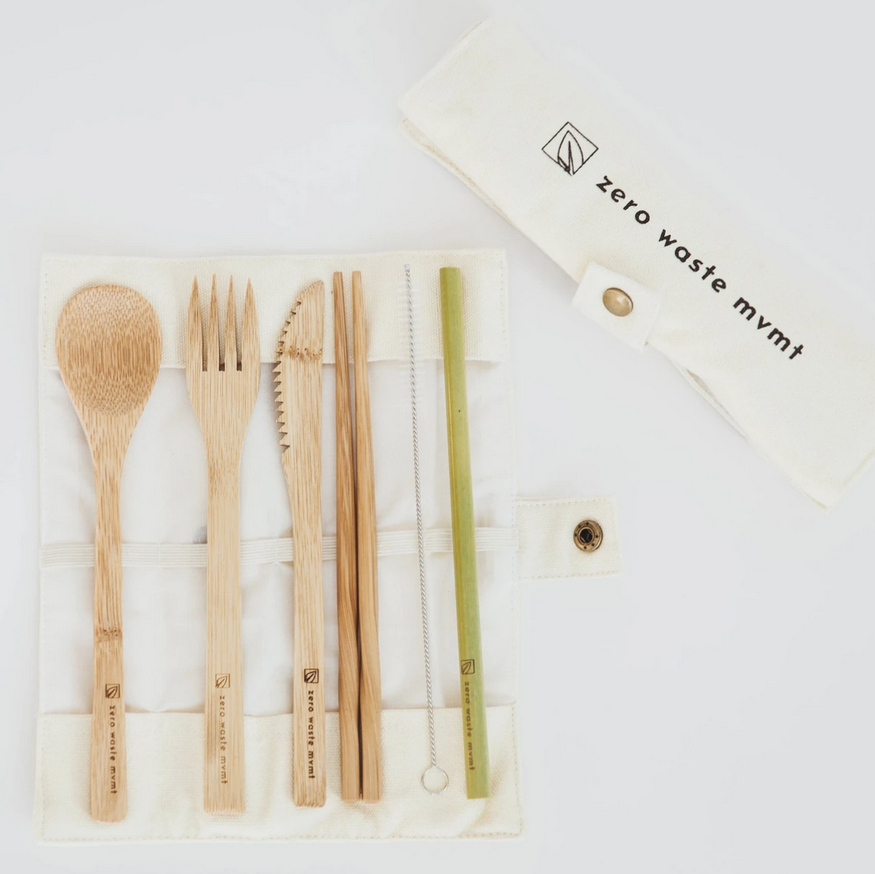Travel Cutlery Set | Eco-Friendly Bamboo Utensils