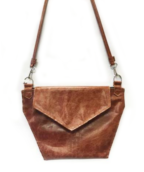 The Hex Crossbody: Chestnut