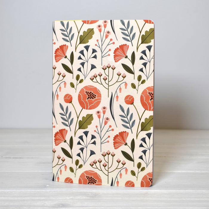 Flowers Lined Journal
