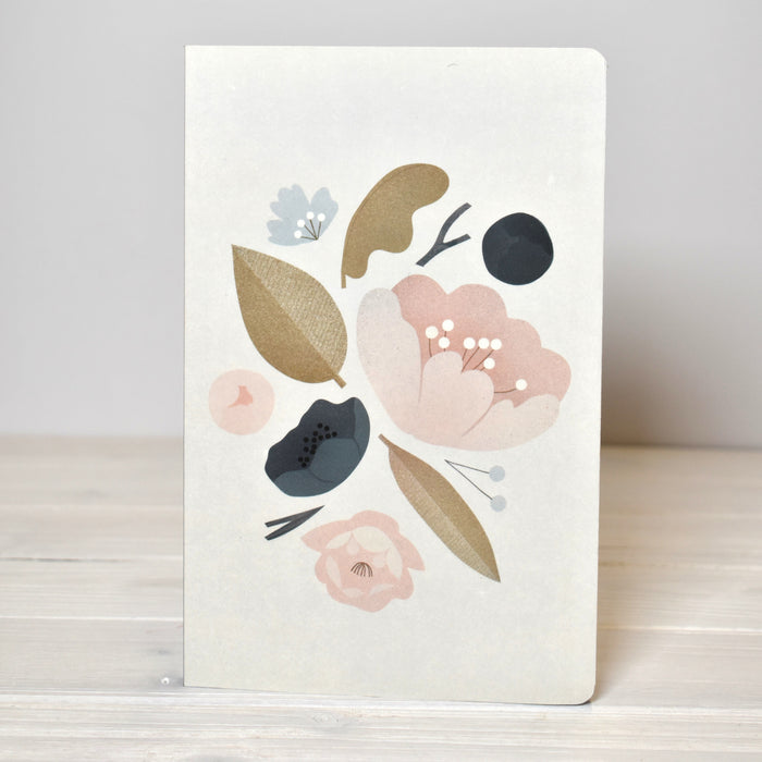 Peonies Lined Journal