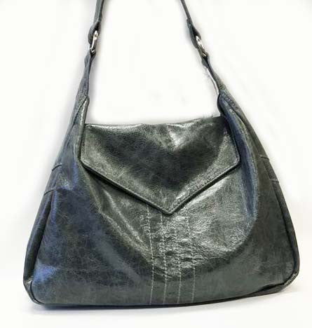Minka Slouch Handbag: Steel Grey