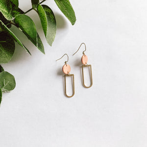 Rose Gold Bucket Dangles