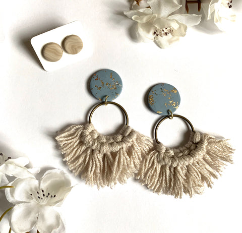Beige & Blue Earring Bundle