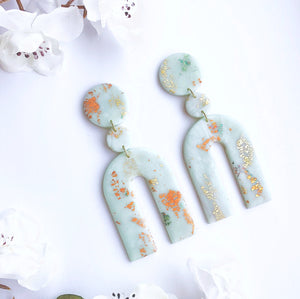 Light Mint Embellished Chunky Arches