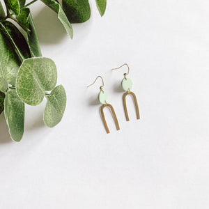 Soft Green Arch Dangles