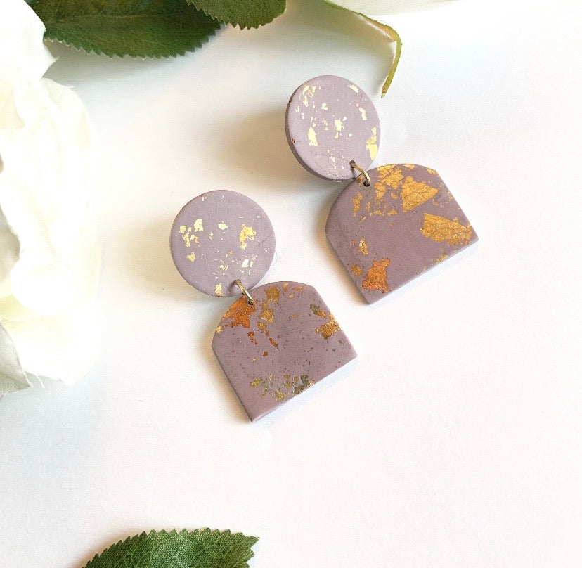 Soft Purple Chunky Studs + Embellishment