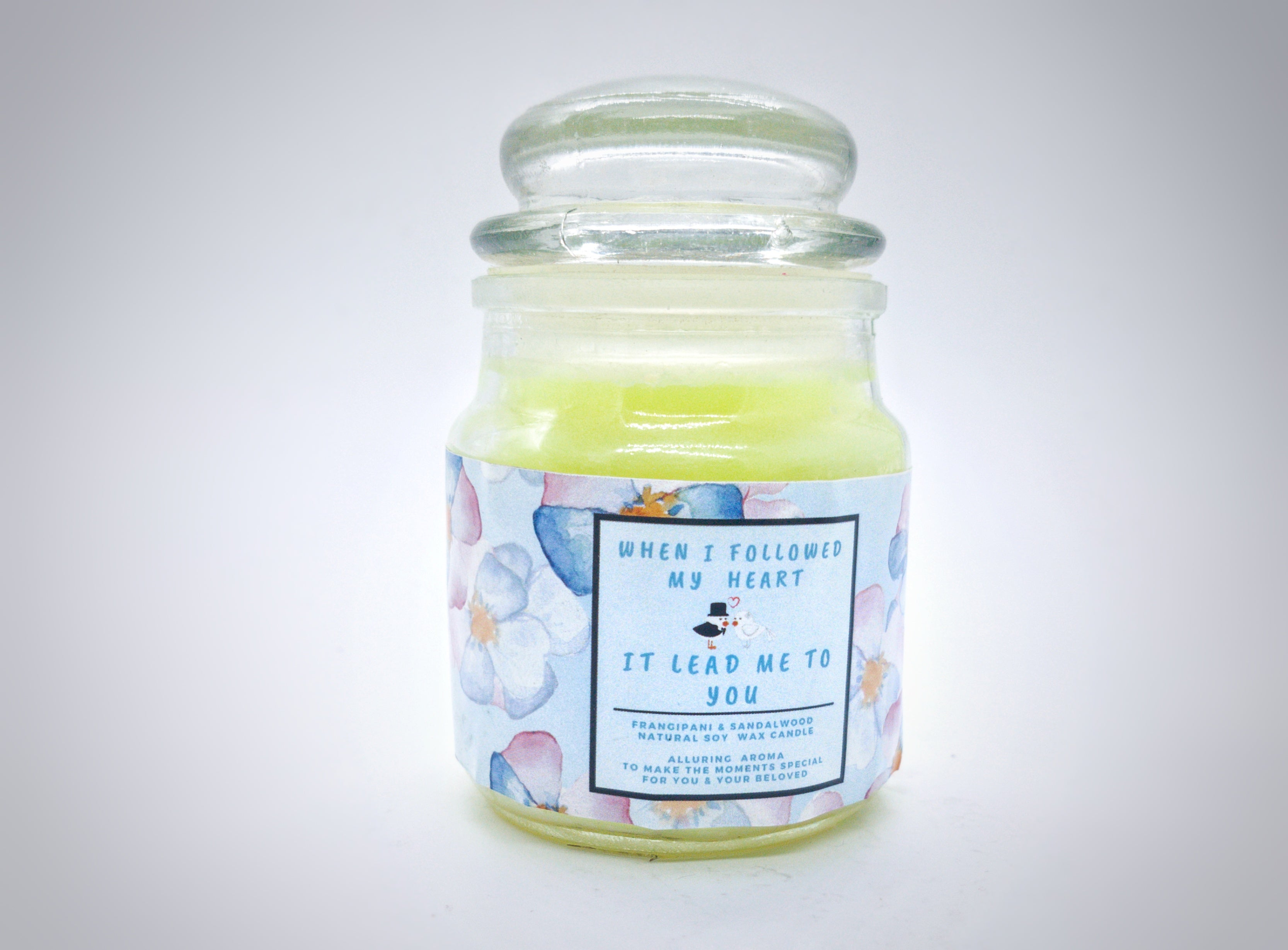 Yours Bee Loved - Quotes Candle | Natural Soy Wax Candle |  Frangipani & Sandalwood Fragrance - YoursBeeLoved