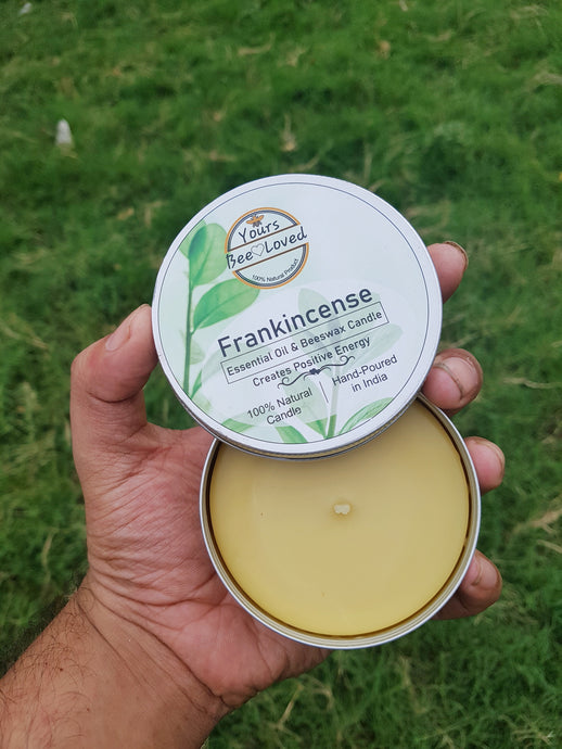 Yours Bee Loved - Aromatherepy | Frankincense Essential Oil Candle | 100% Natural Candle - YoursBeeLoved