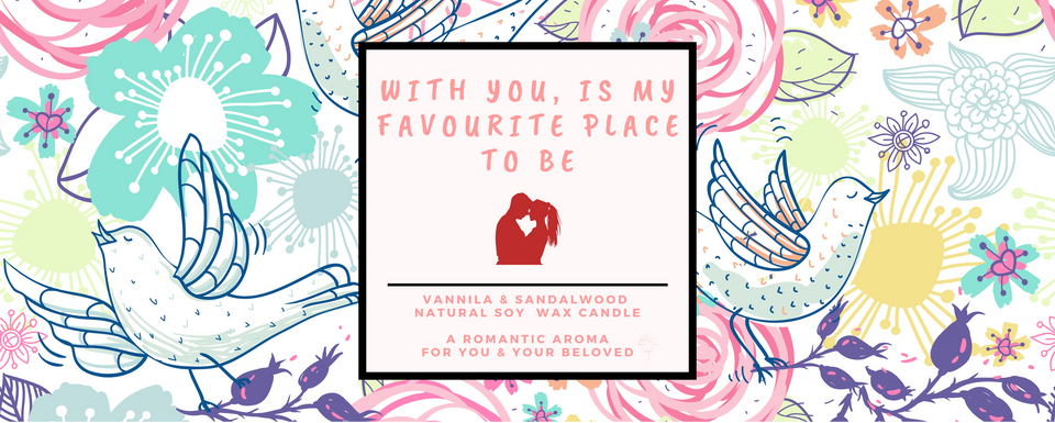 Yours Bee Loved - Quotes Candle | Natural Soy Wax Candle | Sandalwood & Vanilla Fragrance - YoursBeeLoved