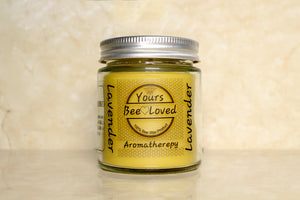 Yours Bee Loved - Aromatherepy | Lavender Essential Oil Candle | 100% Natural Candle - YoursBeeLoved