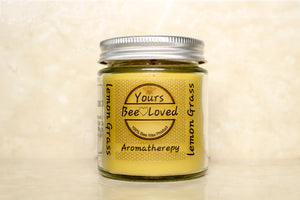 Yours Bee Loved - Aromatherepy | Lemon Grass Essential Oil Candle | 100% Natural Candle - YoursBeeLoved