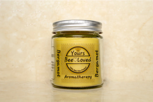 Yours Bee Loved - Aromatherepy | Bergamot Essential Oil Candle | 100% Natural Candle - YoursBeeLoved