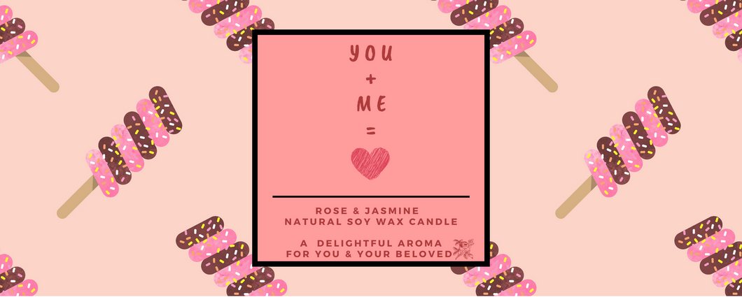 Yours Bee Loved - Quotes Candle | Natural Soy Wax Candle | Rose & Jasmine Fragrance - YoursBeeLoved