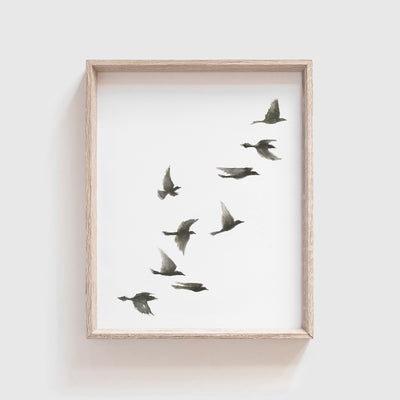 Black Birds No. 1 Art Print