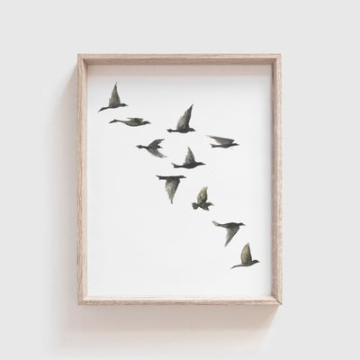 Black Birds No. 2 Art Print