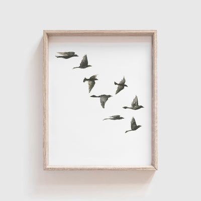 Black Birds No. 3 Art Print