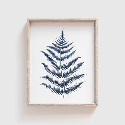 Blue Fern No. 1 Art Print
