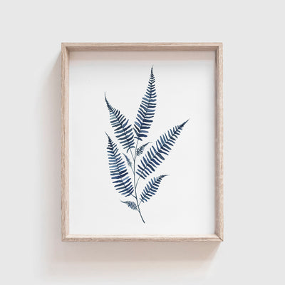 Blue Fern No. 2 Art Print