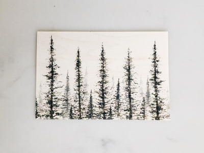 Wooden Postcards: Pine Tree Set (4)