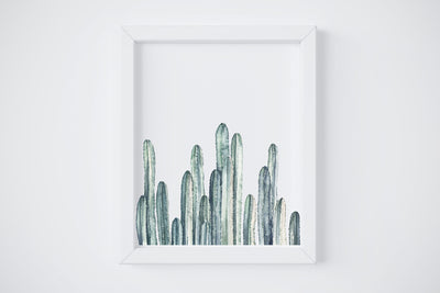 Cactus Row No. 3 Art Print